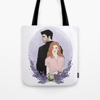 lydia martin Tote Bags featuring Derek Hale/Lydia Martin by vulcains
