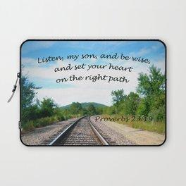 Proverbs 23:19 Laptop Sleeve