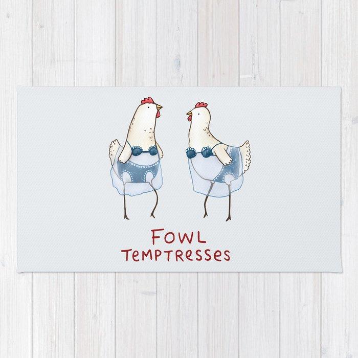 Fowl Temptresses Rug
