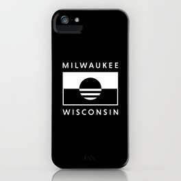 Milwaukee Wisconsin - Black - People's Flag of Milwaukee iPhone Case