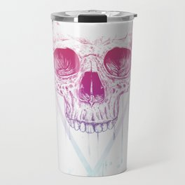 Skull in triangle Travel Mug