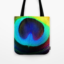 Colorfull Feather Peacock Tote Bag