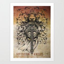 Sovereign Knight Art Print