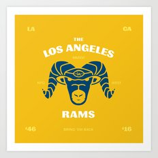 LA Rams are Back Art Print