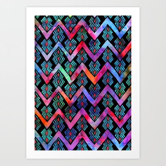 Diamond Chevron - Pop Art Print
