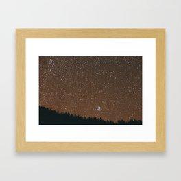 At Night. Framed Art Print