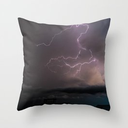 Spring Lightning Throw Pillow
