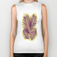 palms Biker Tanks featuring Palms by  Agostino Lo Coco