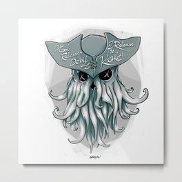 I release the Kraken Metal Print