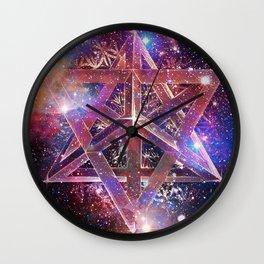 Cosmic Merkaba Wall Clock