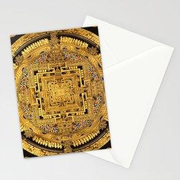 Buddhist Mandala Gold Temple 40 Stationery Cards