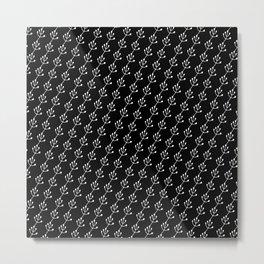 Lia Black Metal Print