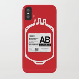 My Blood Type is AB, for Absolute Bomb! iPhone Case