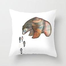 Bear Investigations Throw Pillow