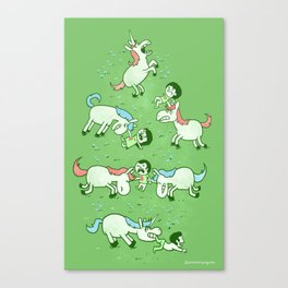 Angry Unicorns Canvas Print