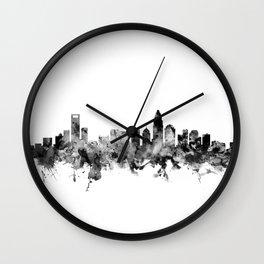 Charlotte North Carolina Skyline Wall Clock