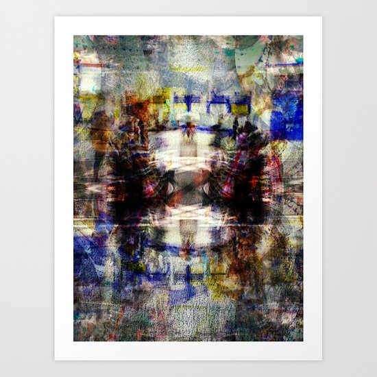 space as ovular motion Art Print