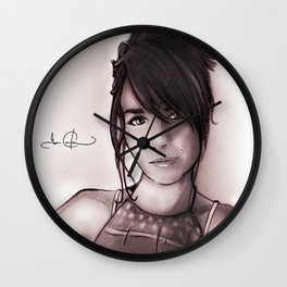 RGD Girl Portait | Soft Dive of Oblivion Wall Clock