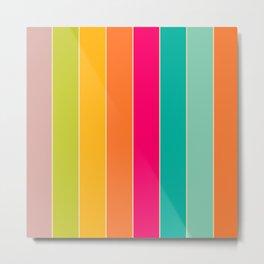 Colour Stripes Metal Print