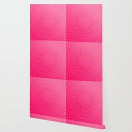 Native Aztec Tribal Pink Mandala Pattern Wallpaper