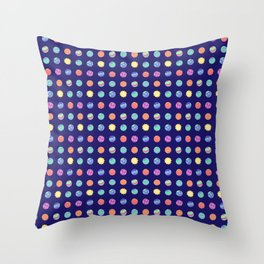 Outer Space - Polka Dot Planets Throw Pillow