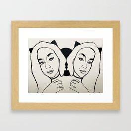Siamese Framed Art Print