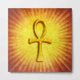 Golden Ankh I.I Metal Print