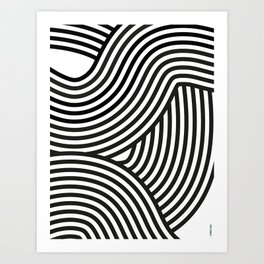 Moving lines Art Print