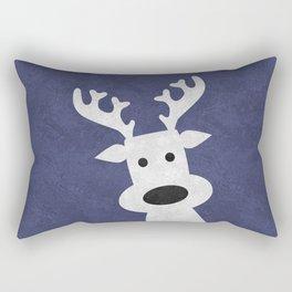 Christmas reindeer blue marble Rectangular Pillow