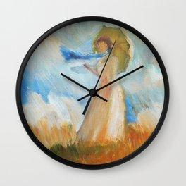Monet Lady Wall Clock