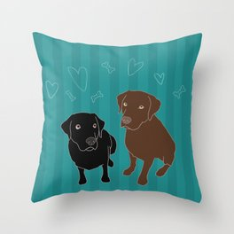 Retriever ChocoBlack Throw Pillow