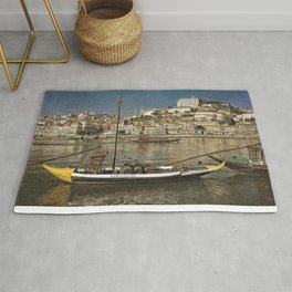 Moody Porto barges on the Douro Rug