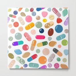 Unicorn Pills Light Metal Print