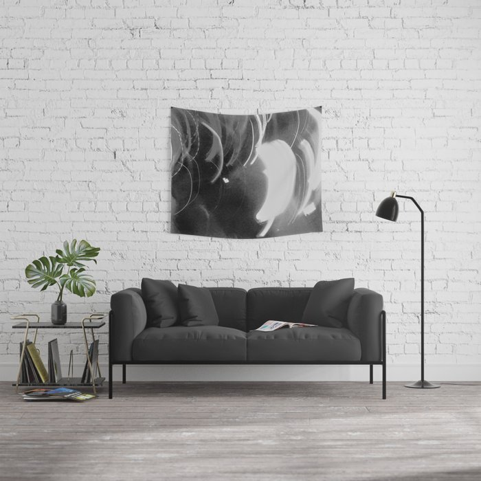Night Lights Grayscale #10 Wall Tapestry