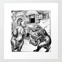 bears Art Prints featuring Bears by Natalie Berman