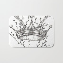 Crown and Stag Bath Mat