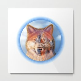 Chill Wolf A11 Metal Print