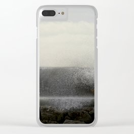 The ocean behind the wall Clear iPhone Case