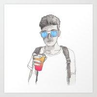 Summer boy Art Print