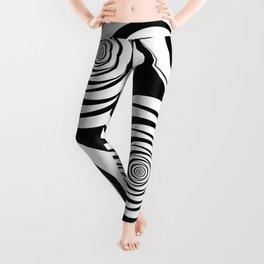 Black White Circles Optical Illusion Leggings