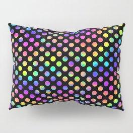 Rainbow Polka Dot Pattern Pillow Sham