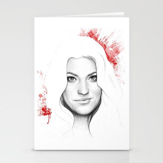 Debra and Blood Splatters Stationery Cards