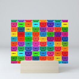 Neon Cassettes Mini Art Print