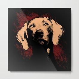 Sad Dog Face Metal Print