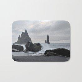 Black Icelandic Beach Bath Mat
