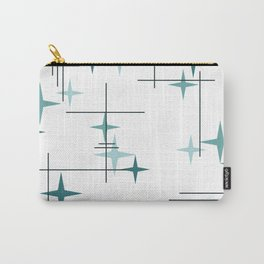 Mid Century Modern Stars (Teal) Carry-All Pouch