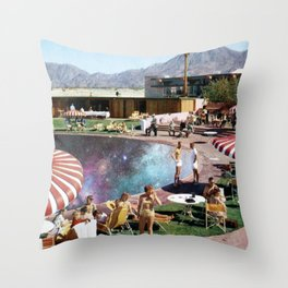 COSMIC POOL Throw Pillow