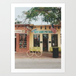The Original Key Lime Pie Bakery Art Print