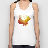 china Tank Tops featuring China by Stephanie Wittenburg