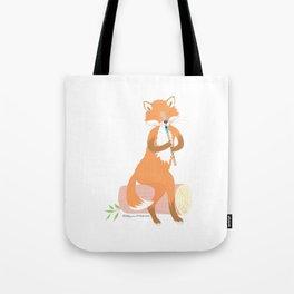 Tin Whistle Fox Tote Bag